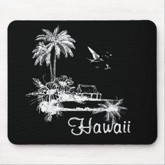 Choza de la playa de Hawaii Tapete De Ratones