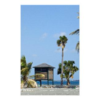 choza de la playa papeleria personalizada