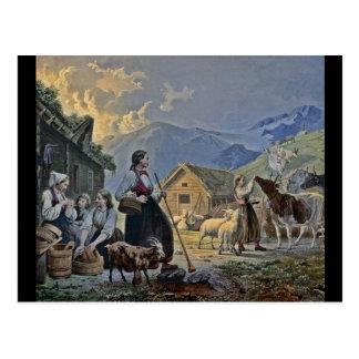 Choza de los Shepherdesses en la montaña Postal