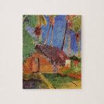 Choza debajo de las palmas de coco de Paul Gauguin Puzzle