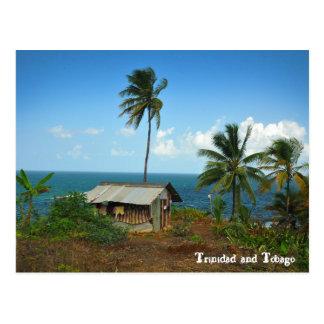Choza en la costa del norte de Trinidad Postal