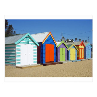 Choza icónica de la caja de la playa de Melbourne Postales