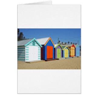 Choza icónica de la caja de la playa de Melbourne Tarjeta De Felicitación