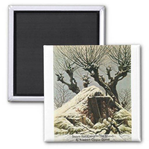 Choza Nevado (cabina en la nieve) Imanes