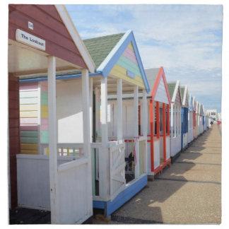 Chozas coloridas de la playa servilletas de papel