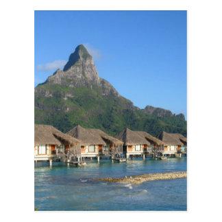 Chozas de Bora Bora Tarjeta Postal