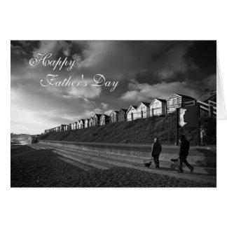 Chozas de la playa - bella arte del día de padre - tarjeta de felicitación