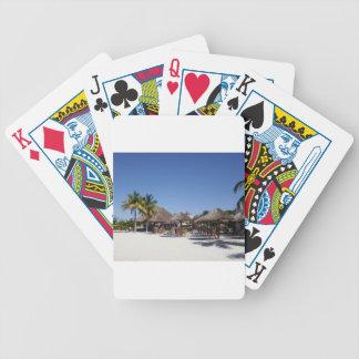 Chozas de la playa barajas de cartas
