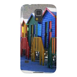 Chozas de la playa de Cape Town Carcasas De Galaxy S5