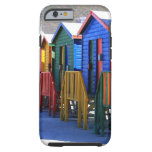 Chozas de la playa de Cape Town Funda De iPhone 6 Tough