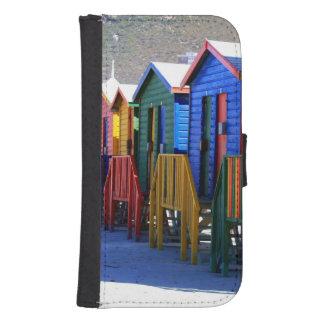 Chozas de la playa de Cape Town Funda Tipo Cartera Para Galaxy S4