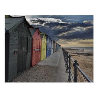 Chozas de la playa de Mundesley Postal