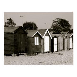 Chozas de la playa isla de Mersea Essex Inglate Tarjetas Postales