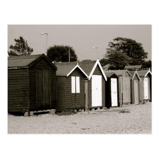 Chozas de la playa, isla de Mersea, Essex, Postales