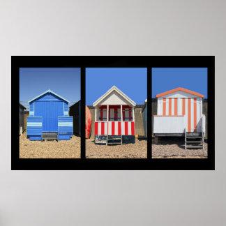 Chozas de la playa posters
