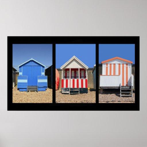 Chozas de la playa póster