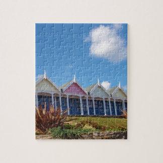 Chozas de la playa puzzles con fotos