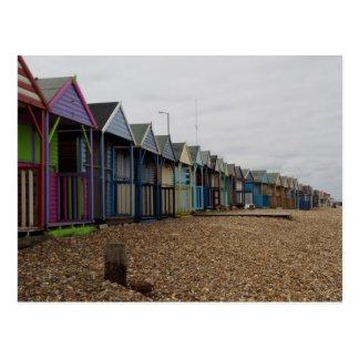 Chozas de la playa tarjetas postales