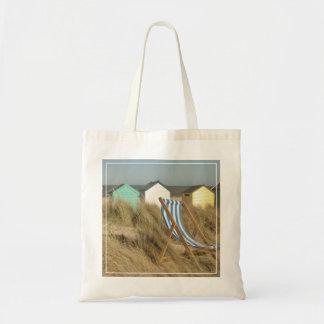 Chozas de la silla y de la playa de cubierta el   bolsa tela barata