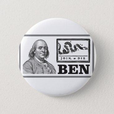 chpped snake ben button