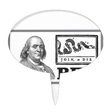 USA Themed chpped snake ben cake topper