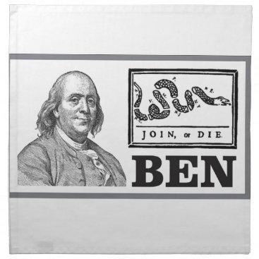 USA Themed chpped snake ben cloth napkin