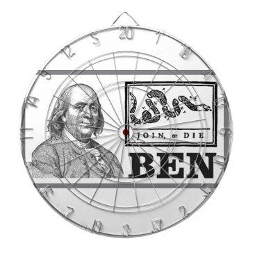 USA Themed chpped snake ben dart board