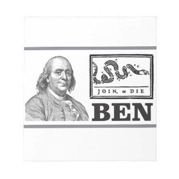 USA Themed chpped snake ben notepad