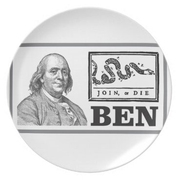 USA Themed chpped snake ben plate