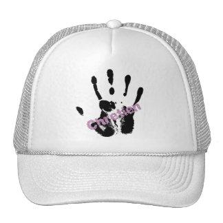 Chrétien Lila sur mains noire Hat