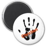 Chrétien Rouge sur mains noire 2 Inch Round Magnet
