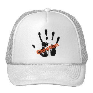 Chrétien Rouge sur mains noire Hats