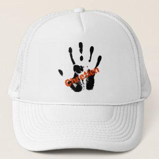 Chrétien Rouge sur mains noire Trucker Hat