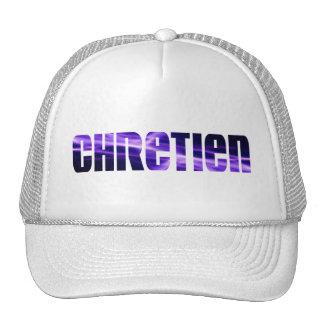 Chrétien violet hat