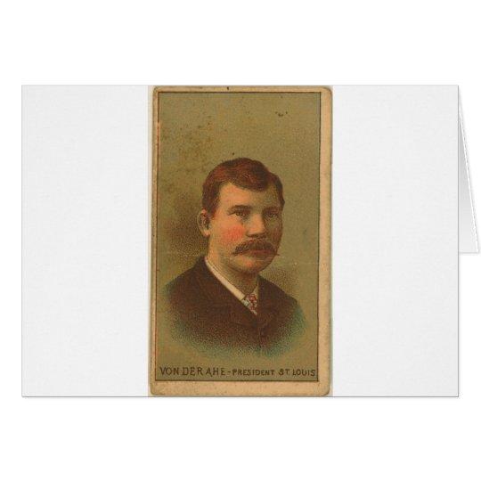 Chris 1887 Von Der Ahe Tarjeta De Felicitación