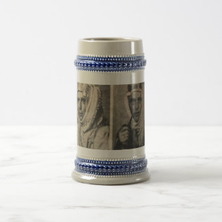 Chris and Hans  with Turban on travels 18 Oz Beer Stein
