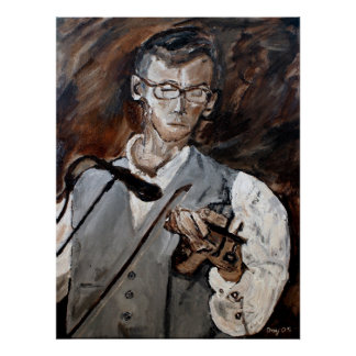 Chris Bayer, Fiddle Player Poster