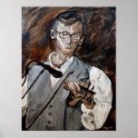 Chris Bayer, jugador del violín Posters
