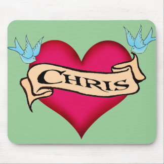 Chris - camisetas y regalos de encargo del tatuaje tapete de raton