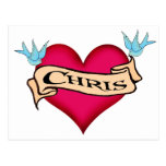 Chris - camisetas y regalos de encargo del tatuaje postal