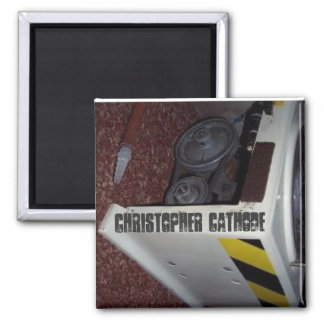 Chris Cathode mortuary refrigerator magnet