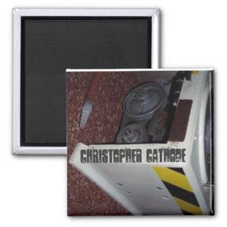 Chris Cathode mortuary refrigerator magnet