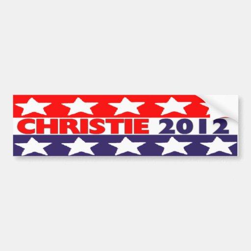 Chris Christie 2012 Bumper Sticker