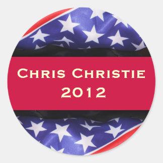 Chris CHRISTIE 2012 Campaign Sticker