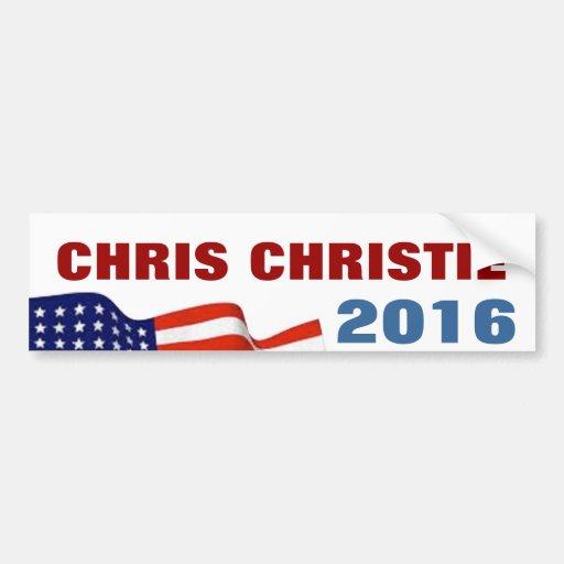 Chris Christie 2016 Pegatina De Parachoque