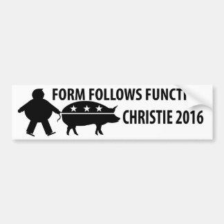 Chris Christie 2016 Humor Car Bumper Sticker