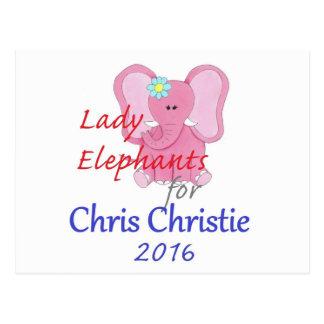 CHRIS CHRISTIE 2016 POSTCARD
