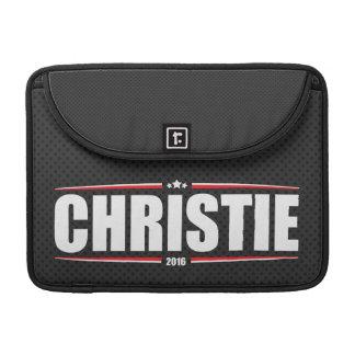 Chris Christie 2016 (Stars & Stripes - Black) Sleeve For MacBook Pro