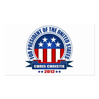 Chris Christie Double-Sided Standard Business Cards (Pack Of 100)