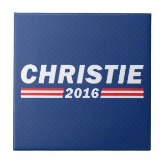 Chris Christie, Christie 2016 Azulejo Cuadrado Pequeño